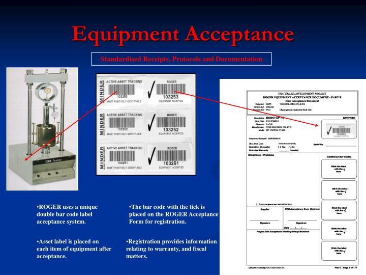 Equipment Acceptance