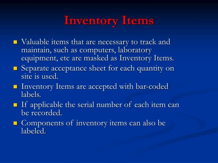Inventory Items