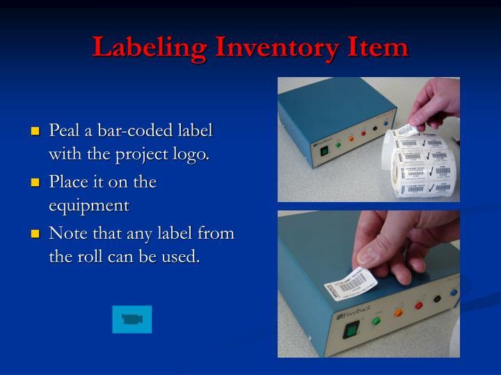 Labeling Inventory Item