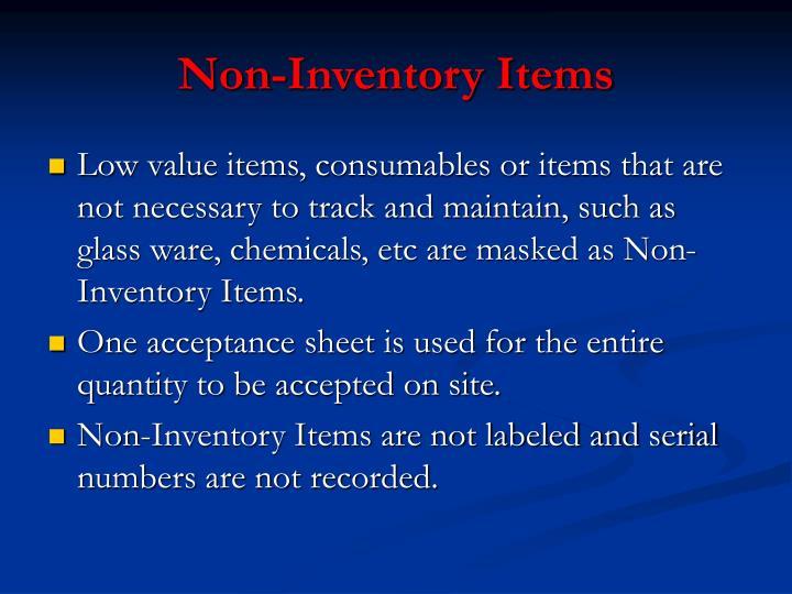Non-Inventory Items