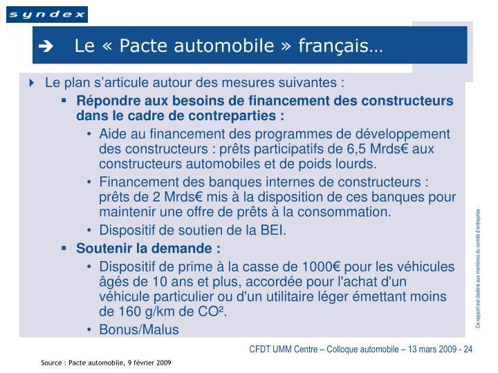 Le «Pacte automobile» français…