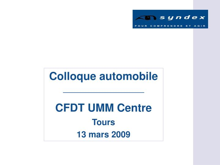 Colloque automobile