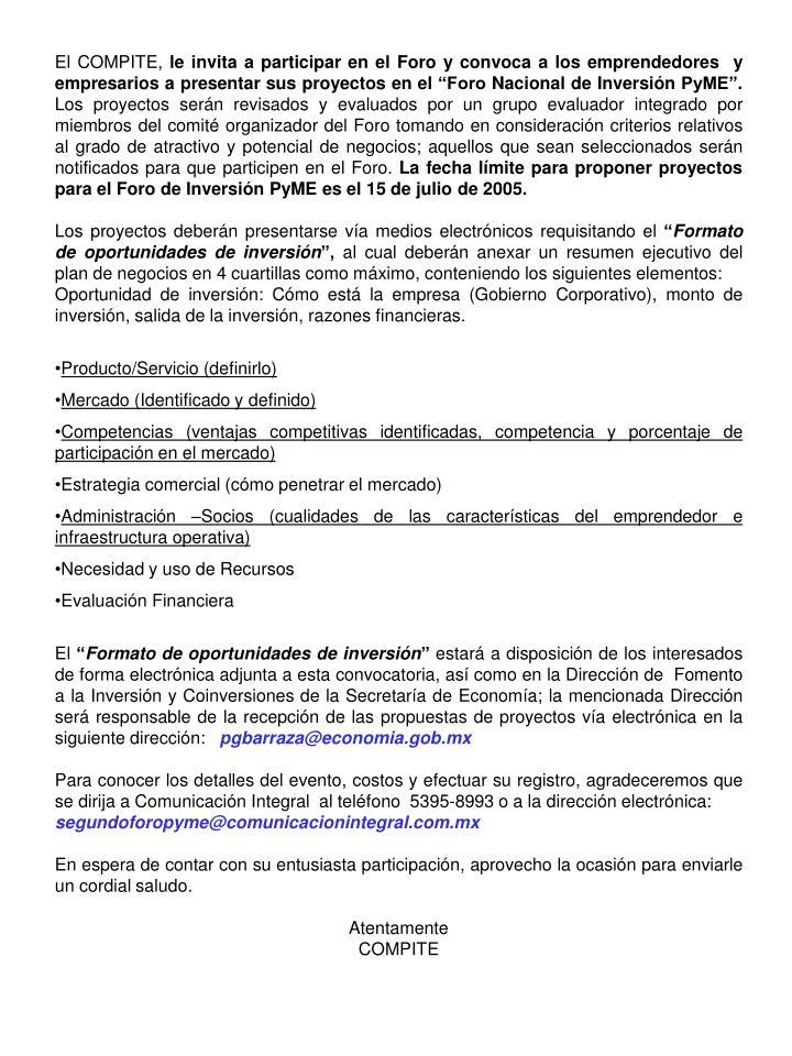 El COMPITE,