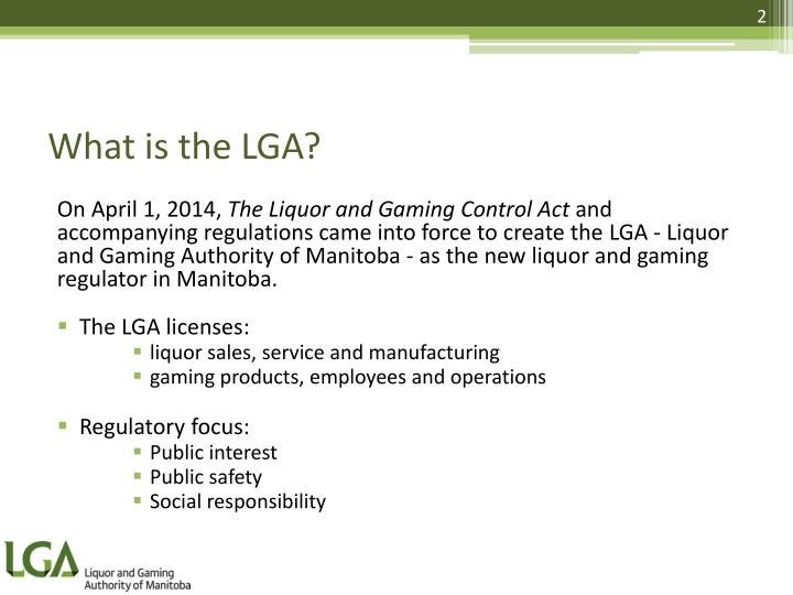 What is the LGA?