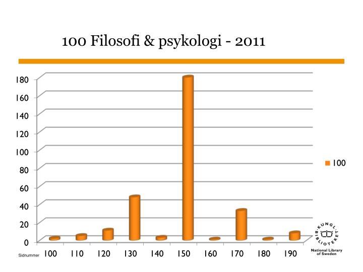 100 Filosofi & psykologi - 2011