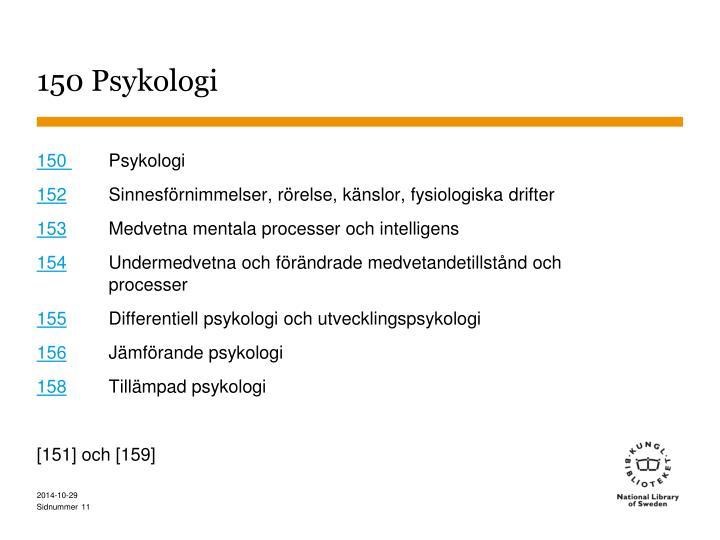 150 Psykologi