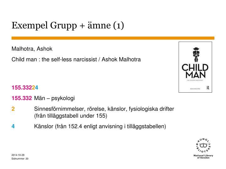 Exempel Grupp + ämne (1)