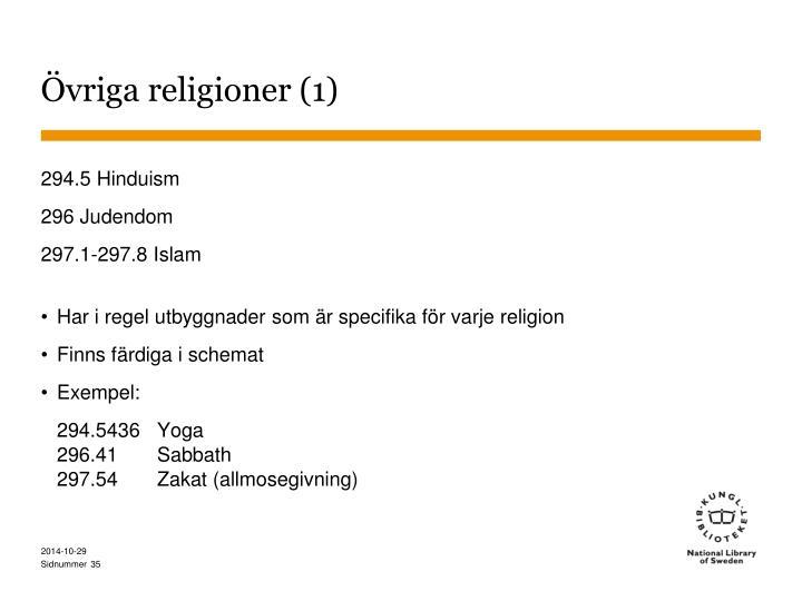 Övriga religioner (1)