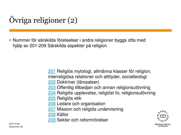 Övriga religioner (2)