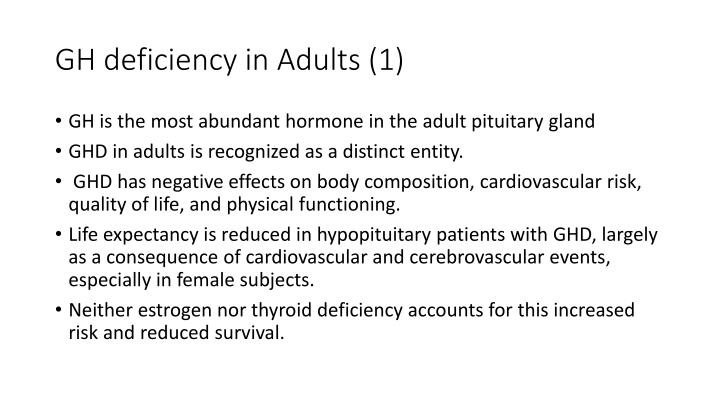 GH deficiency in Adults (1)