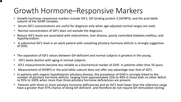 Growth Hormone–Responsive Markers