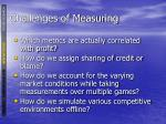 challenges of measuring