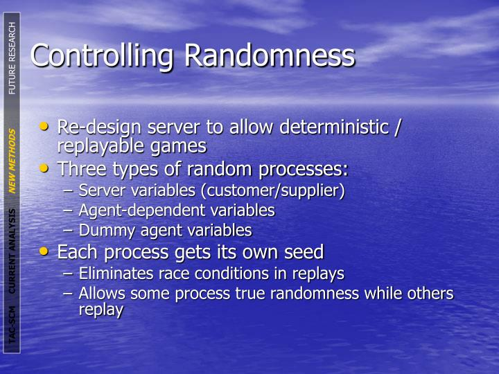 Controlling Randomness
