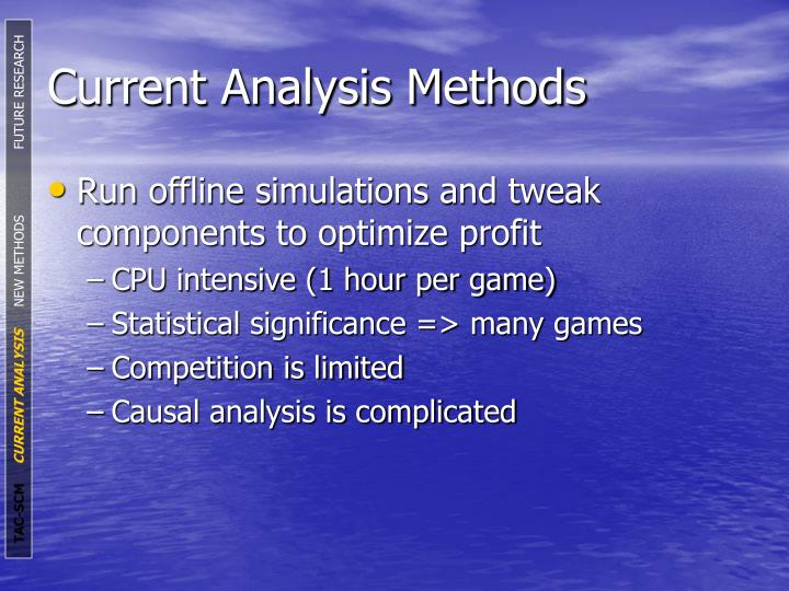Current Analysis Methods