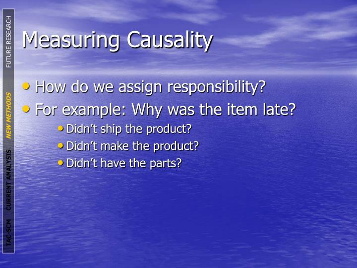 Measuring Causality