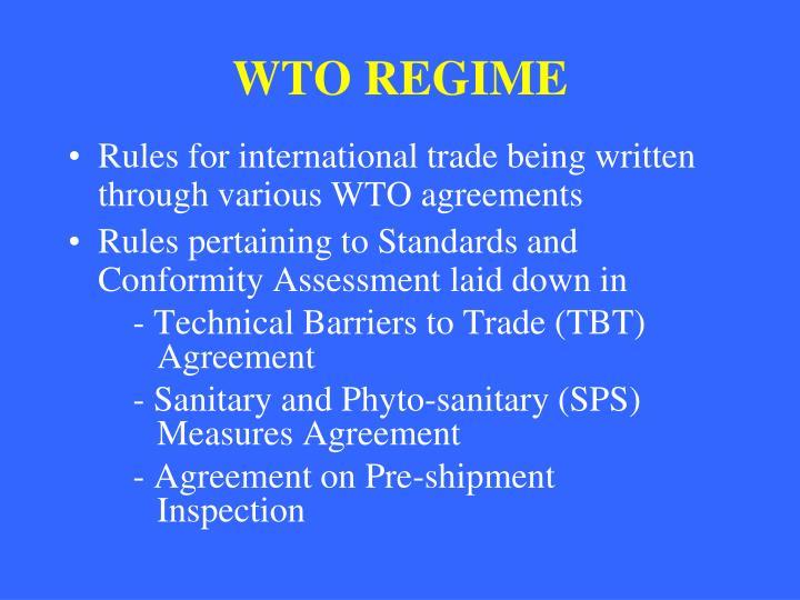 WTO REGIME