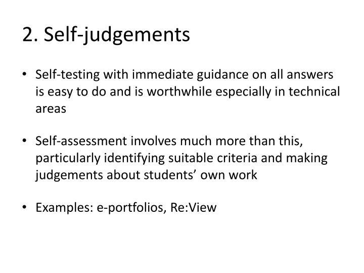 2. Self-judgements