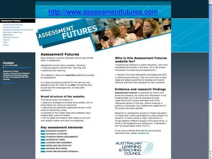 Assessmentfutures splash