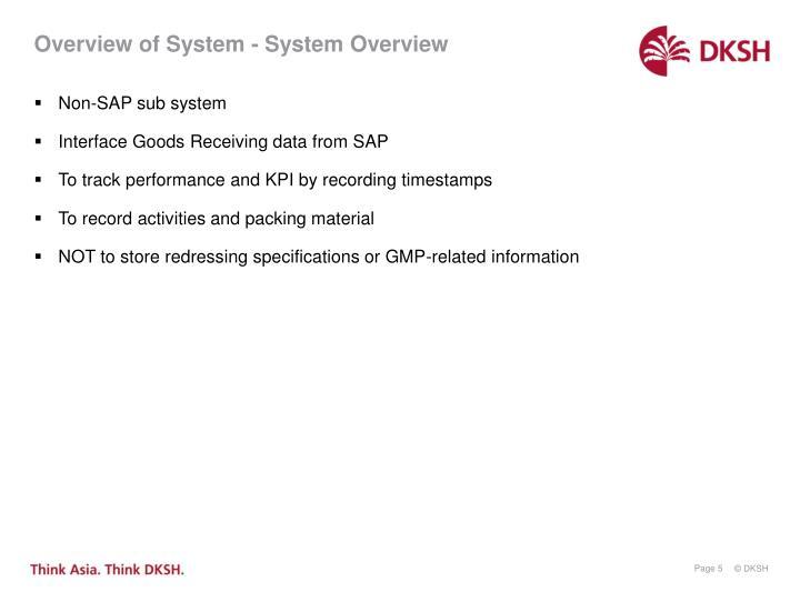 Non-SAP sub system