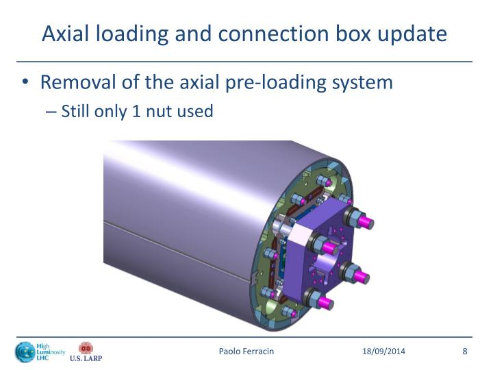 Axial loading and connection box update