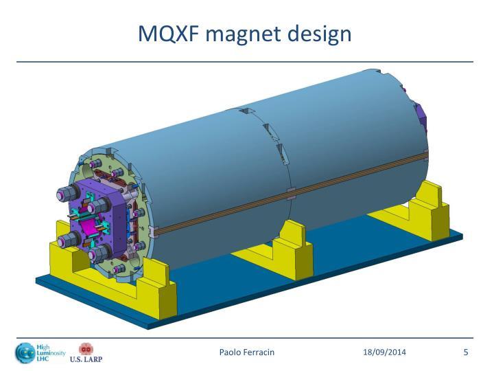 MQXF magnet design