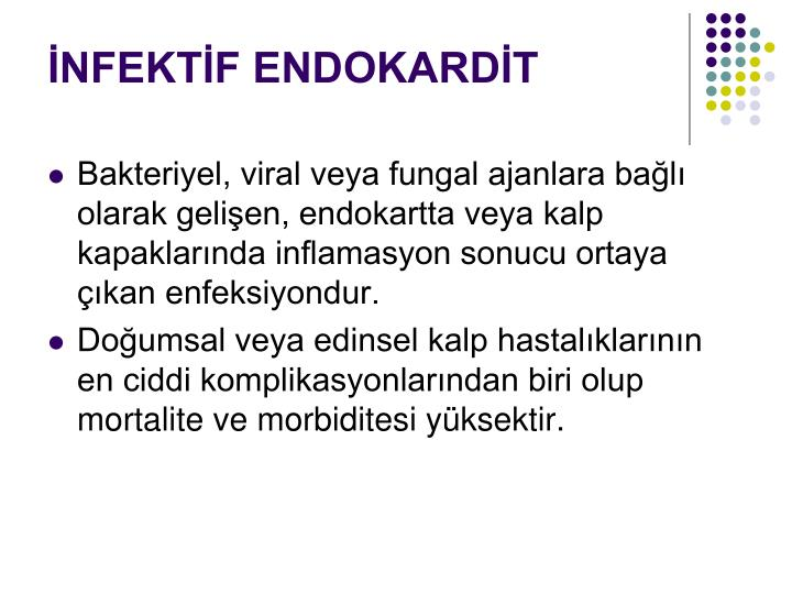 İNFEKTİF ENDOKARDİT