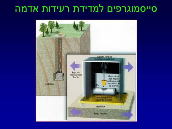 סייסמוגרפים למדידת רעידות אדמה