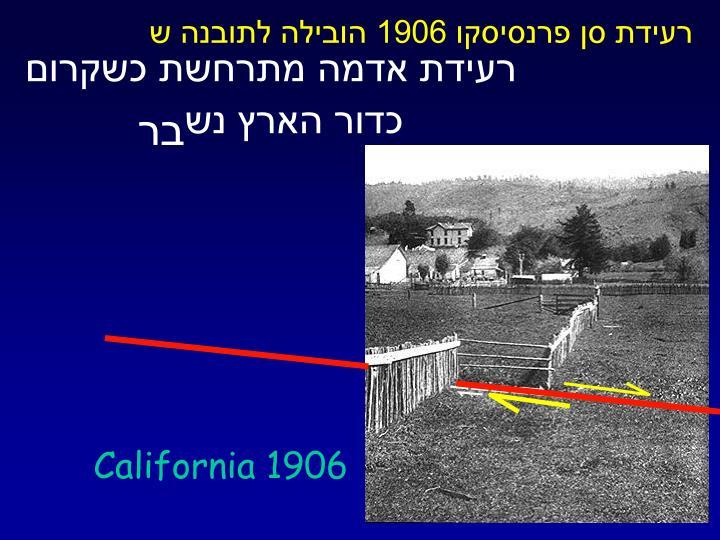 רעידת סן פרנסיסקו 1906 הובילה לתובנה ש