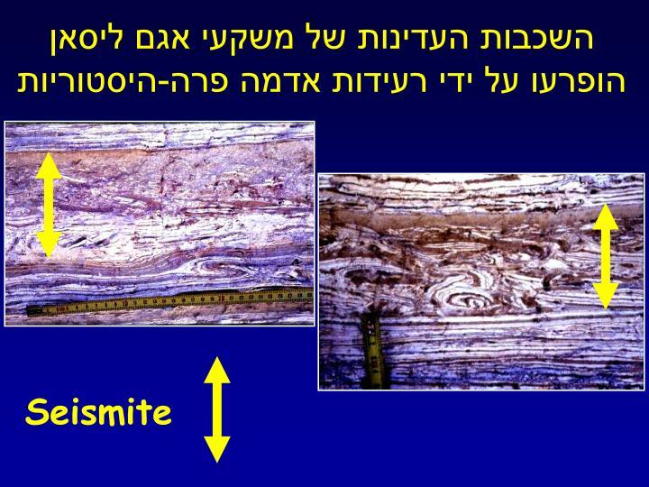 השכבות העדינות של משקעי אגם ליסאן הופרעו על ידי רעידות אדמה פרה-היסטוריות