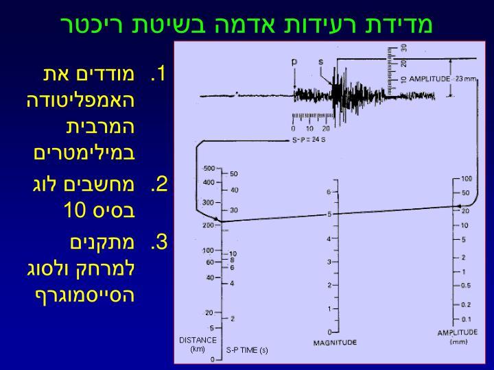 מדידת רעידות אדמה בשיטת ריכטר