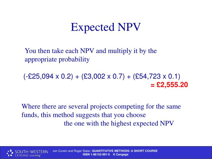 Expected NPV