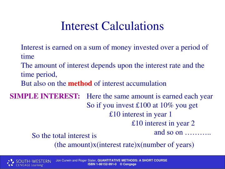Interest Calculations