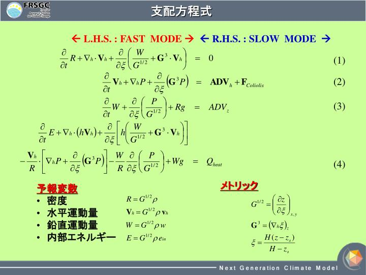 支配方程式