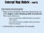 concept map rubric cont d