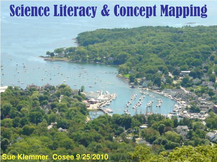 Science literacy concept mapping
