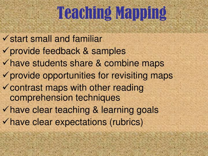 Teaching Mapping