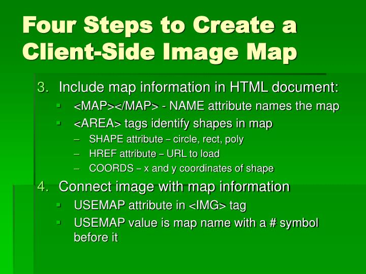 Four Steps to Create a Client-Side Image Map
