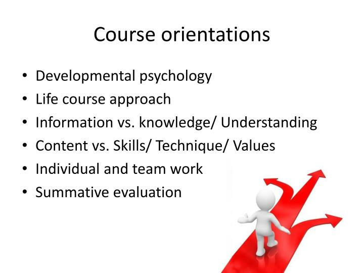 Course orientations