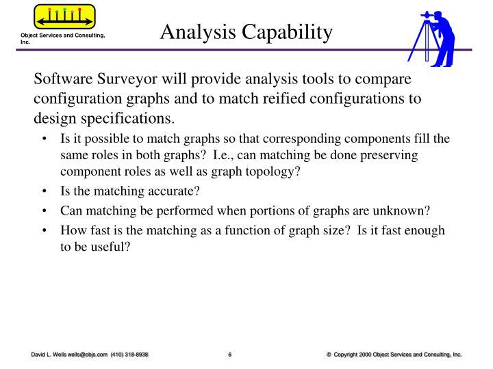 Analysis Capability