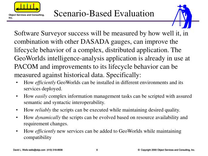 Scenario-Based Evaluation