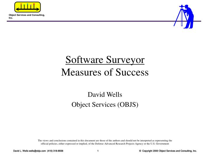 Software surveyor measures of success