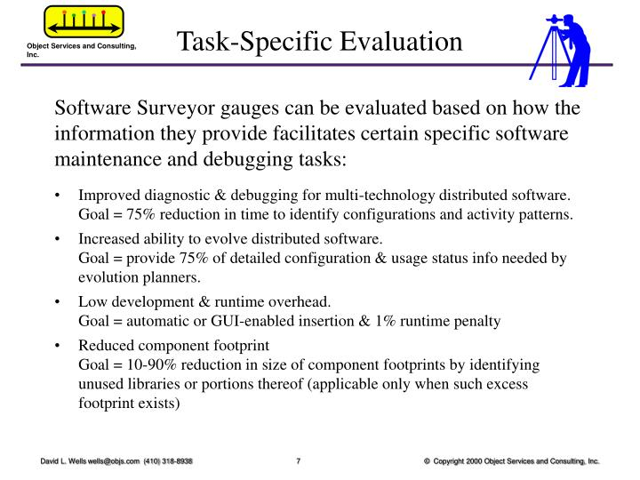 Task-Specific Evaluation