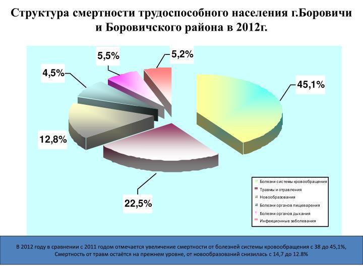 Структура смертности трудоспособного населения г.Боровичи