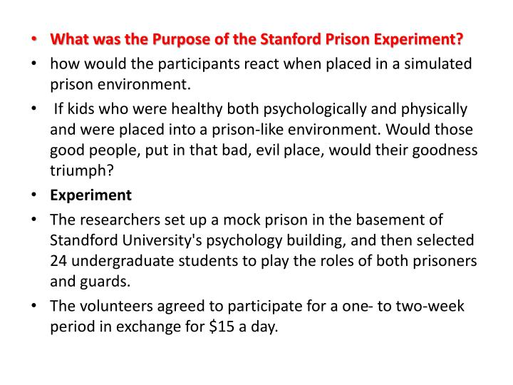 What was the Purpose of the Stanford Prison Experiment?