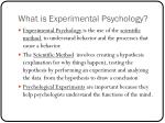 what is experimental psychology
