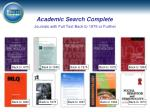 academic search complete journals with full text back to 1975 or further1