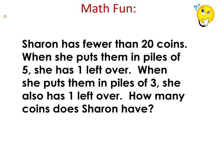 Math Fun: