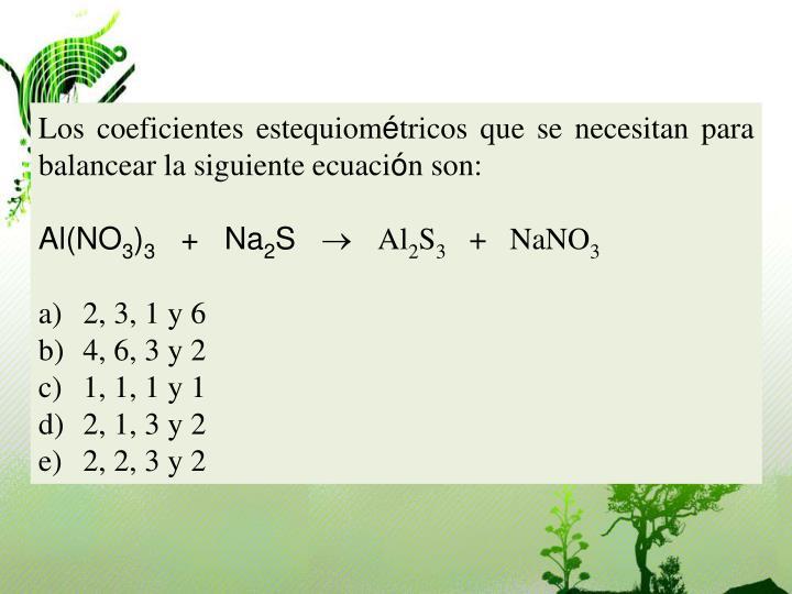 Los coeficientes