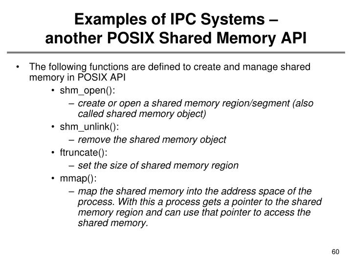 Examples of IPC Systems –