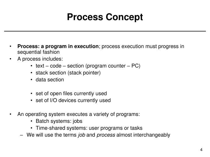 Process Concept